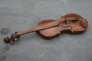 bronzen viool