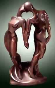 bronzen beeld huwelijk